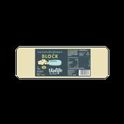 Siera alternatīva – picai ar mocarellas garšu (griezta no lielā bloka) Альтернатива сыру - пицца со вкусом моцареллы (отрезанная из большого блока)
